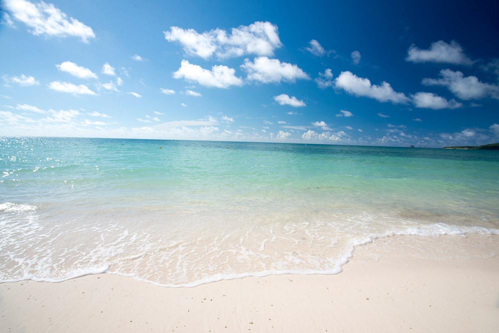この海の美しさ!
